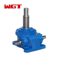 Steering bevel gear jack screw worm gear